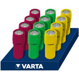 VARTA Taschenlampe 9x LED Light 3AAA, im Thekendisplay