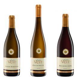 Veit 3er Weinprobe Goldpaket, Riesling/Weiß-/Spätburgunder