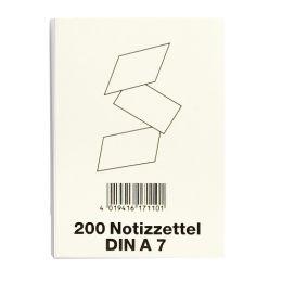 VIKTOR RICHTER Notizzettel für Zettelkästen, DIN A7, weiß