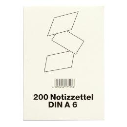 VIKTOR RICHTER Notizzettel für Zettelkästen, DIN A6, weiß