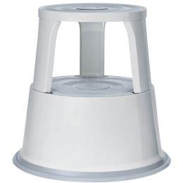 WEDO Rollhocker, aus Metall, lichtgrau / RAL 7035