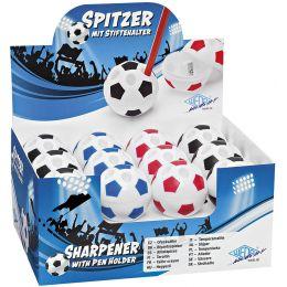 WEDO Spitzdose FUSSBALL mit Stiftehalter, 24er Display