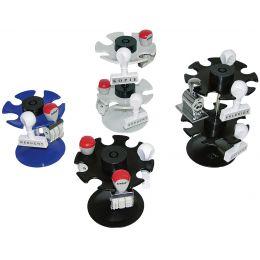 WEDO Stempelträger 6-fach, rund, lichtgrau