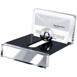 WEDO Visitenkartenhalter mit Stahlkugel acryl exklusiv