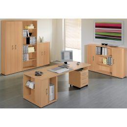 Wellemöbel Büromöbel-Kombination 3 BÜRO COMBI+ 1, Kirsch-