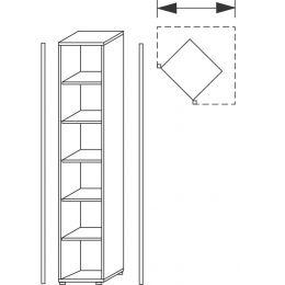 Wellemöbel Eckregal TOOL, 5 Böden, Buche-Nachbildung