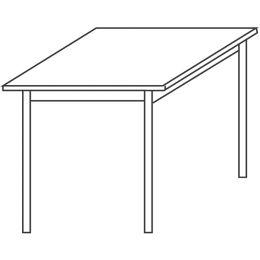 Wellemöbel Konferenztisch CONTACT, (B)800 mm, reinweiß