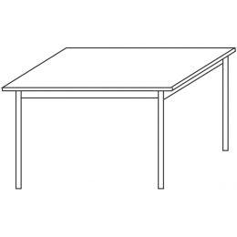 Wellemöbel Konferenztisch CONTACT, (B)1.200 mm, Kirsch-