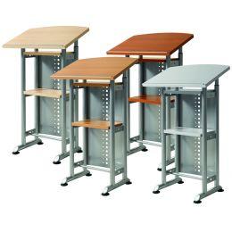Wellemöbel Stehpult CONTACT, höhenverstellbar, grau/alu