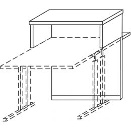 Wellemöbel Thekenaufsatz ohne Zierblenden, Ahorn-Nachbildung