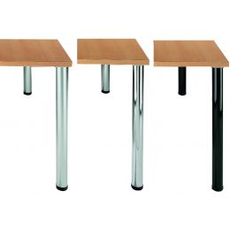 Wellemöbel Tischbein CONTACT, Durchmesser: 60 mm, alu