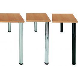 Wellemöbel Tischbein-Set CONTACT, Durchmesser: 60 mm, alu