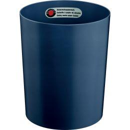 ZWINGO Sicherheits-Papierkorb, Kunststoff, 13 l, blau